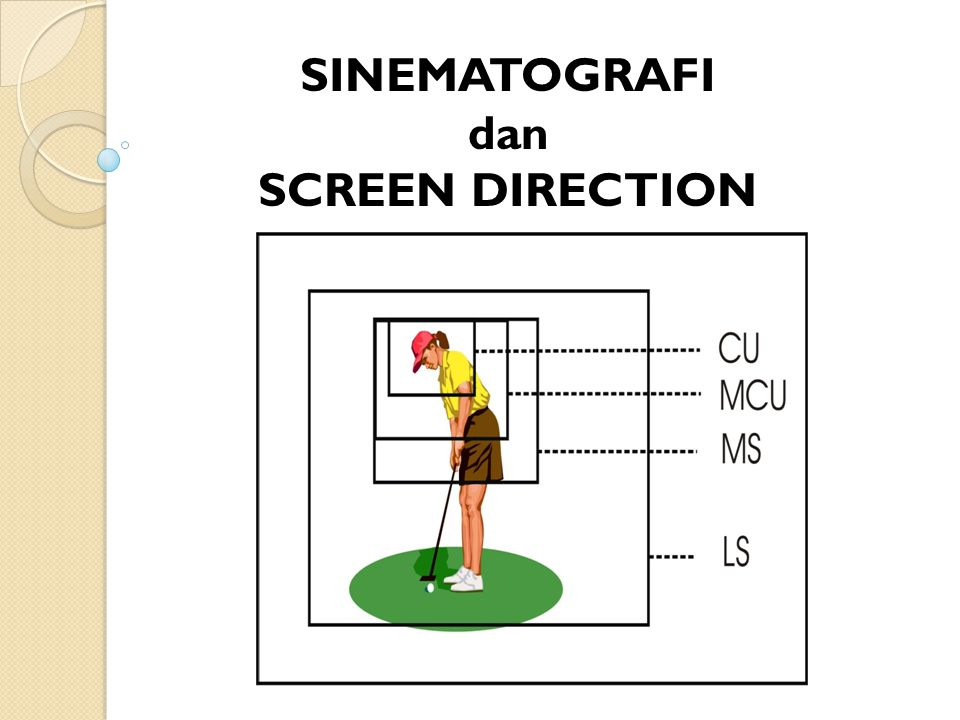 SINEMATOGRAFI dan SCREEN DIRECTION