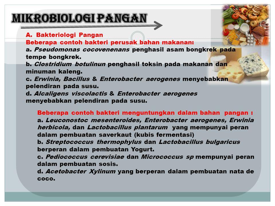 MIKROBIOLOGI PANGAN Bakteriologi Pangan