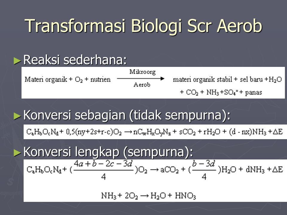 Transformasi Biologi Scr Aerob