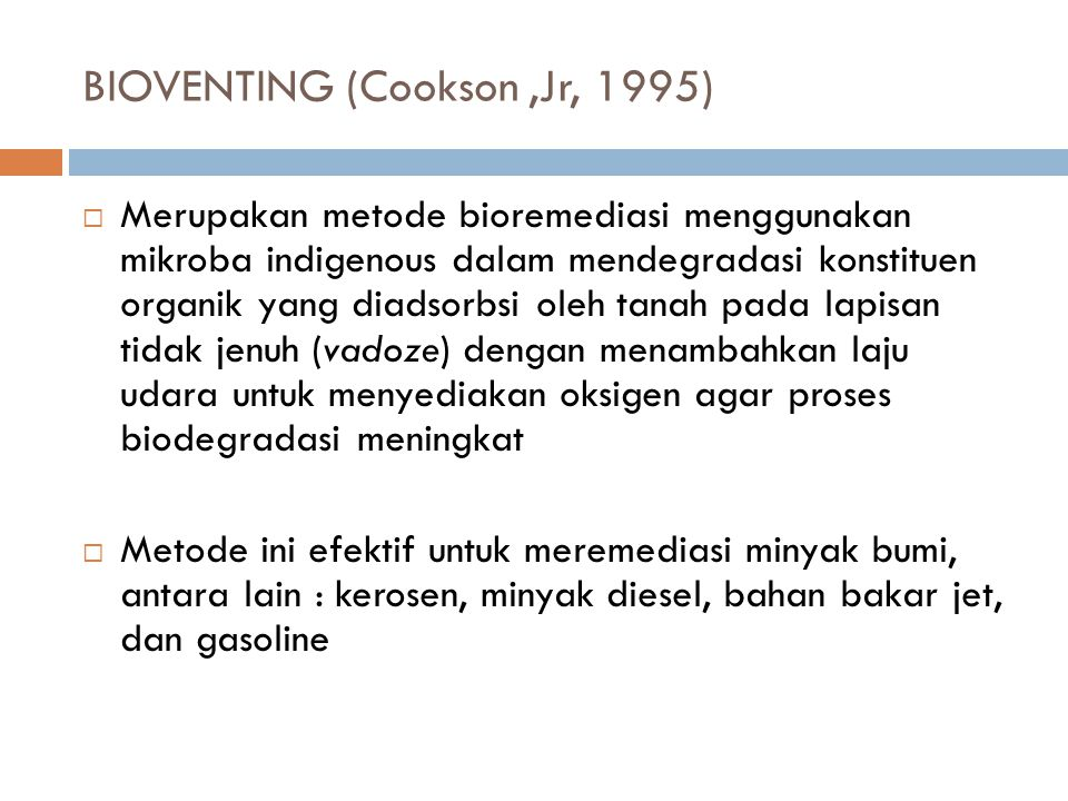 BIOVENTING (Cookson ,Jr, 1995)