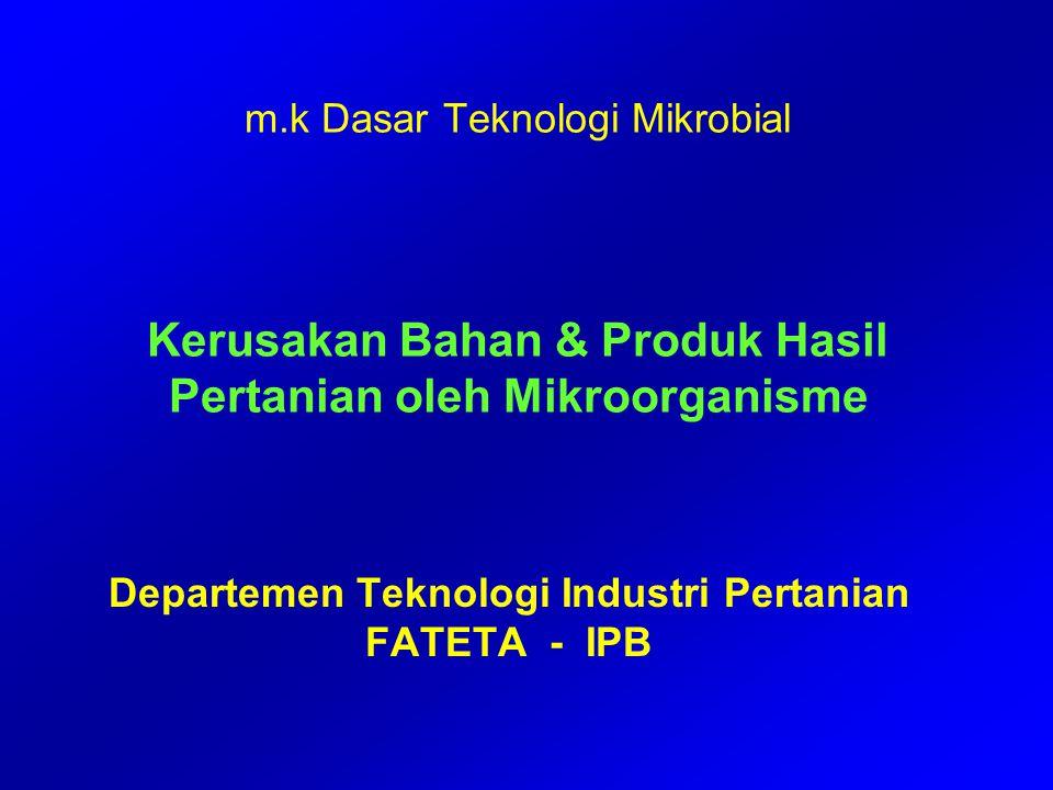 Departemen Teknologi Industri Pertanian FATETA - IPB