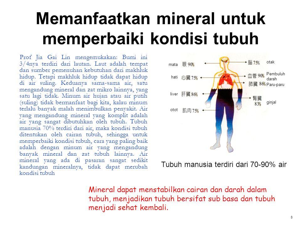 Memanfaatkan mineral untuk memperbaiki kondisi tubuh