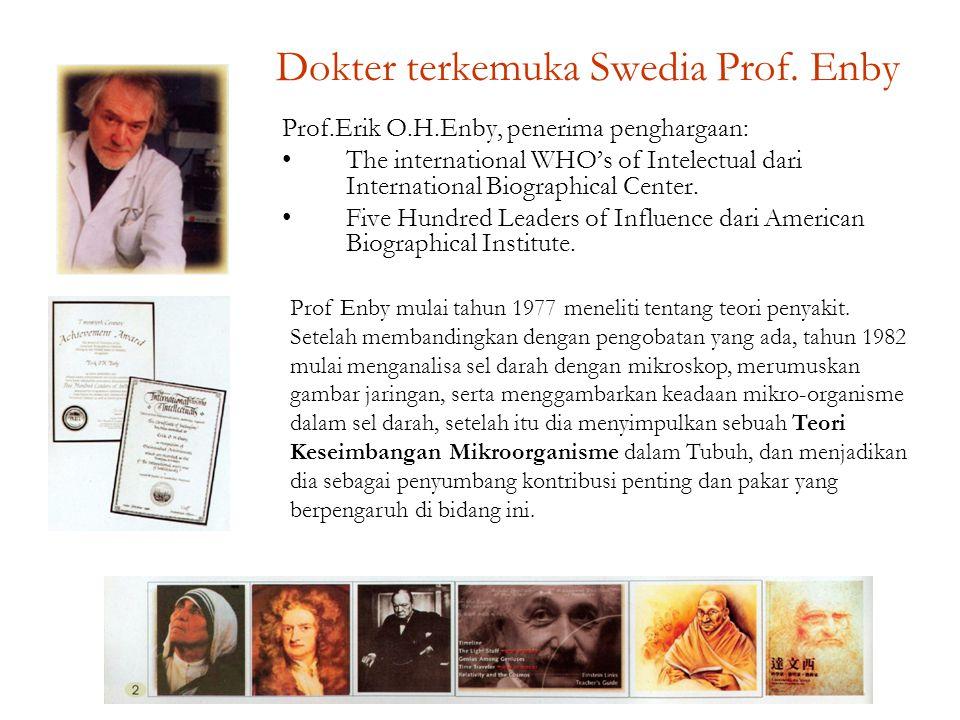 Dokter terkemuka Swedia Prof. Enby