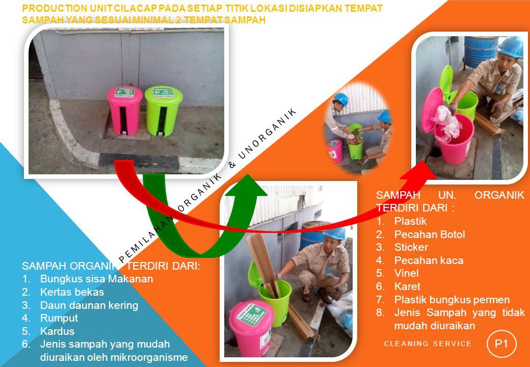 SAMPAH UN. ORGANIK TERDIRI DARI : Plastik Pecahan Botol Sticker