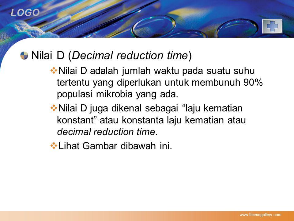 Nilai D (Decimal reduction time)
