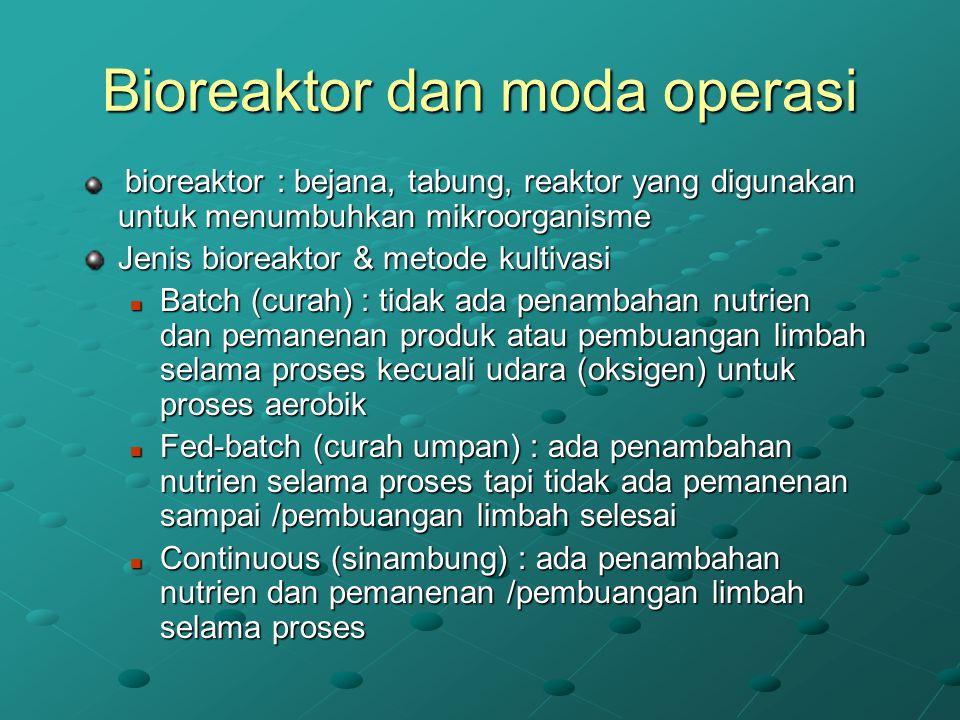 Bioreaktor dan moda operasi