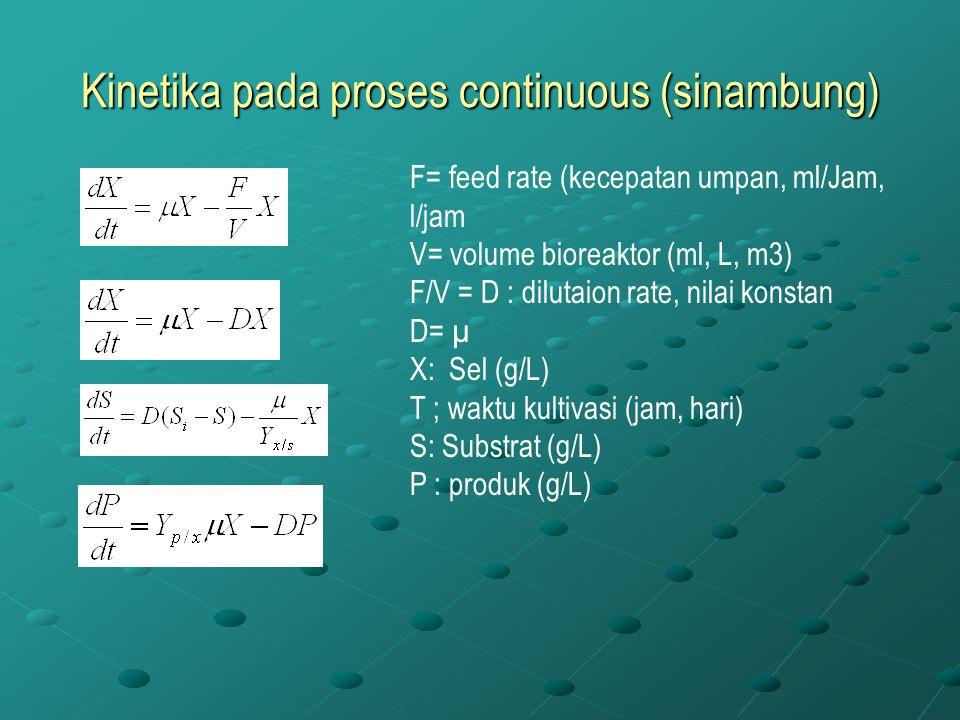 Kinetika pada proses continuous (sinambung)