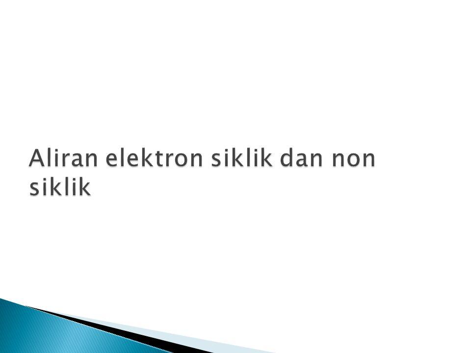 Aliran elektron siklik dan non siklik