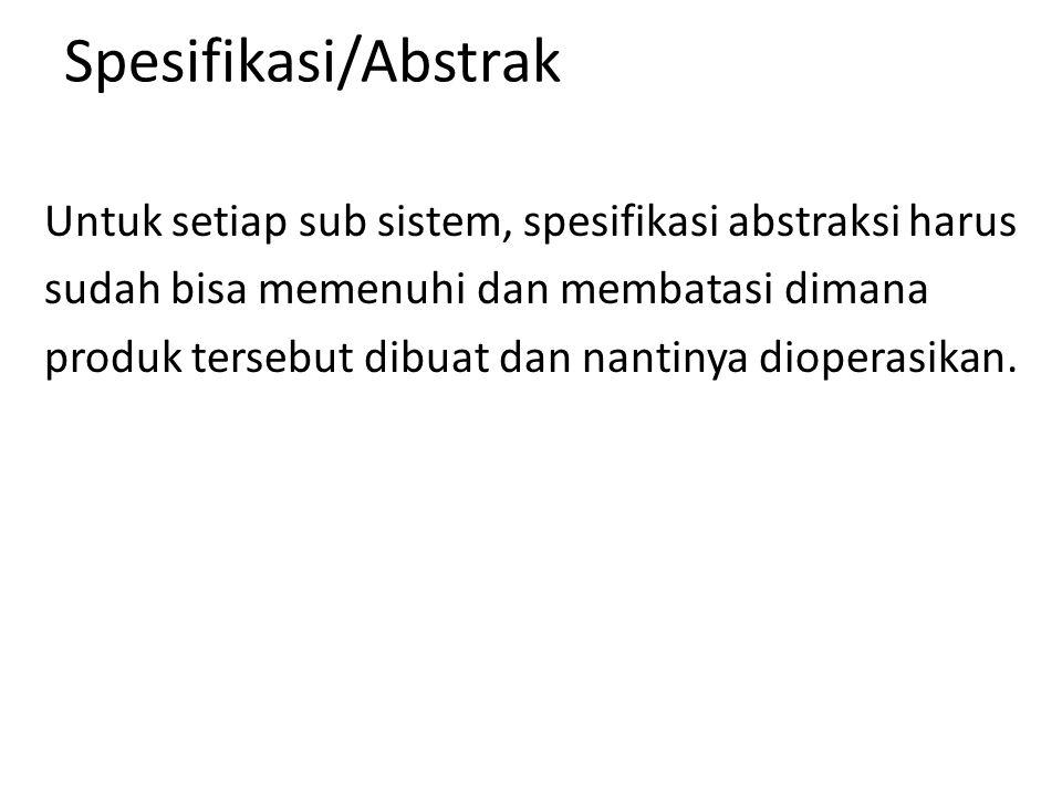 Spesifikasi/Abstrak