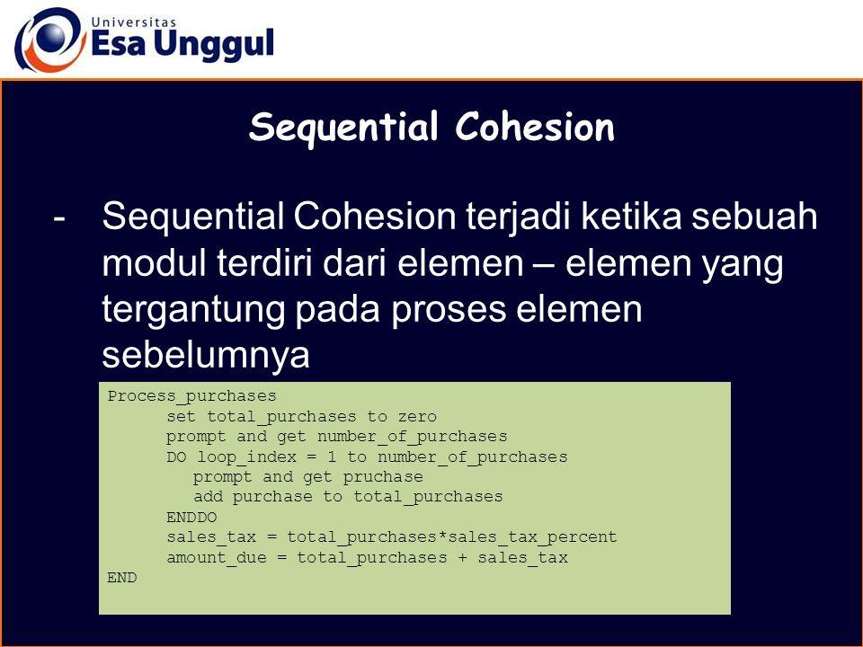 MATERI BELAJAR Sequential Cohesion.