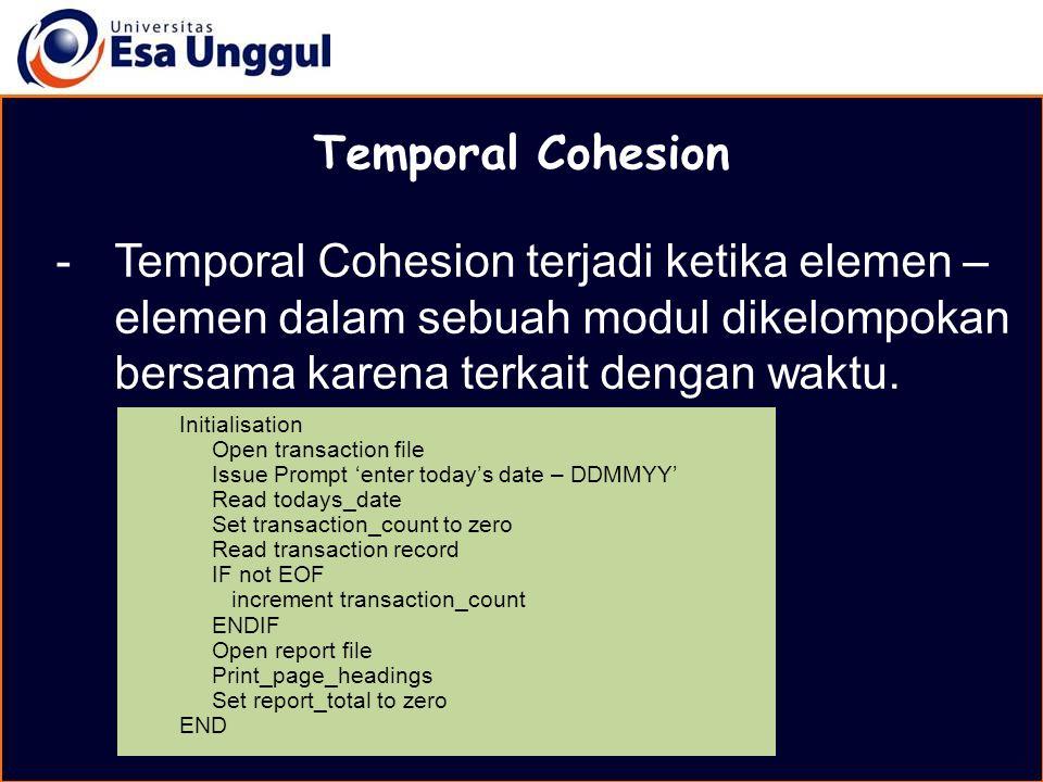 MATERI BELAJAR Temporal Cohesion.