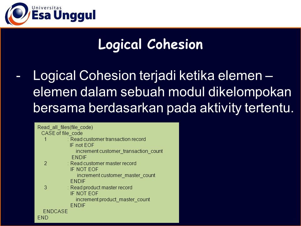 MATERI BELAJAR Logical Cohesion.