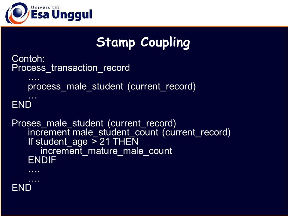 Stamp Coupling Contoh: Process_transaction_record ….
