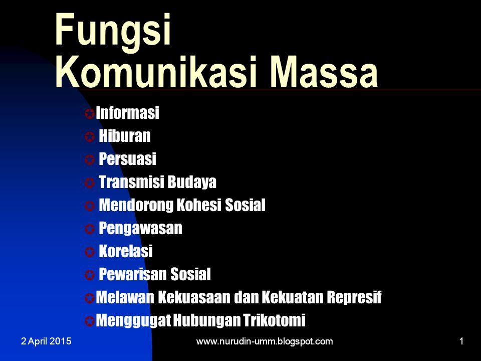 Fungsi Komunikasi Massa