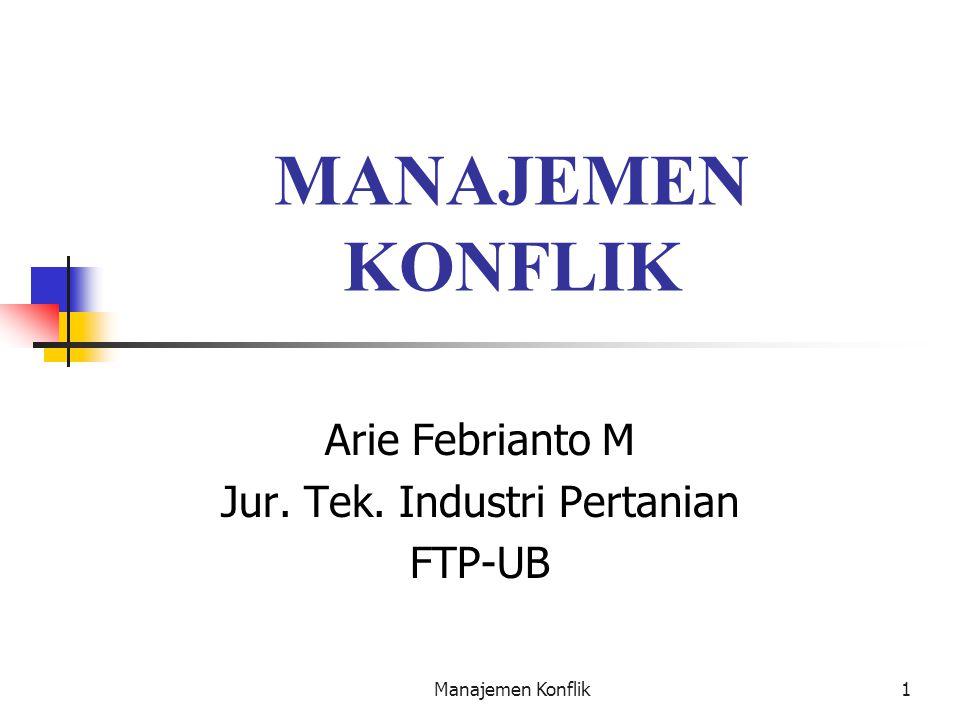 Arie Febrianto M Jur. Tek. Industri Pertanian FTP-UB