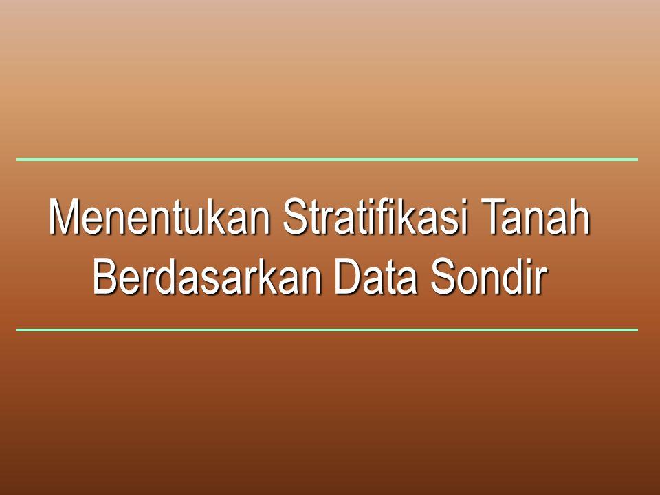 Menentukan Stratifikasi Tanah Berdasarkan Data Sondir