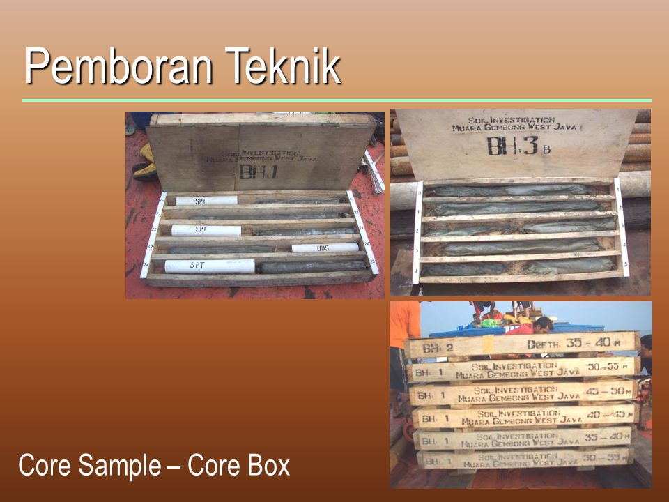 Pemboran Teknik Core Sample – Core Box