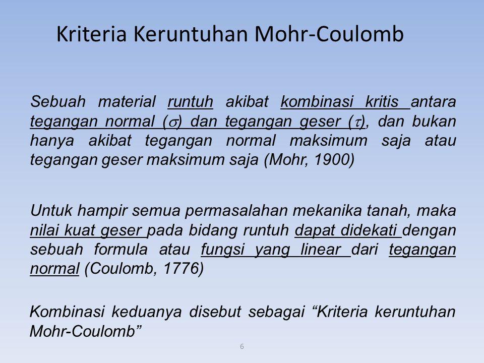 Kriteria Keruntuhan Mohr-Coulomb