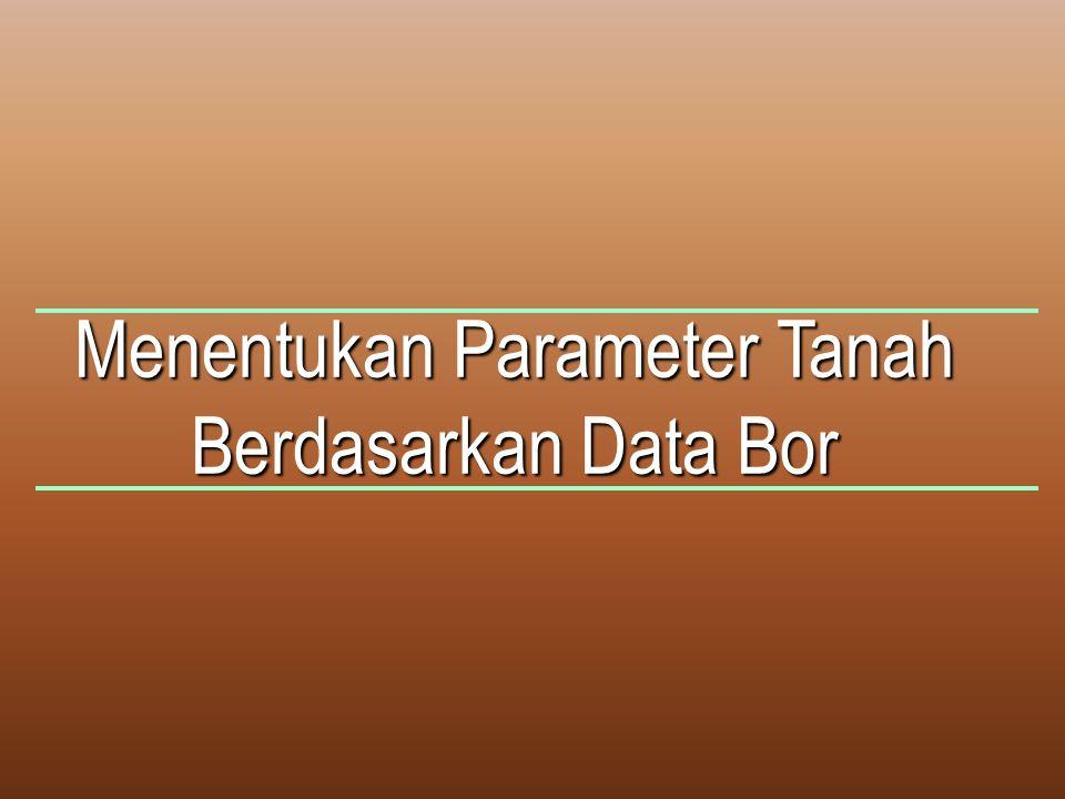 Menentukan Parameter Tanah Berdasarkan Data Bor