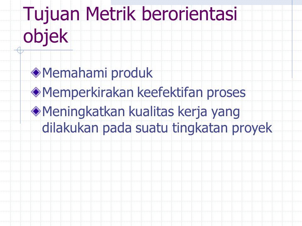 Tujuan Metrik berorientasi objek
