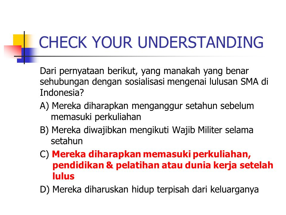 CHECK YOUR UNDERSTANDING