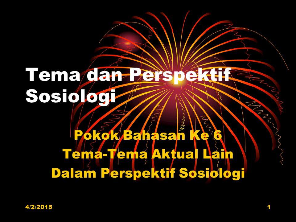 Tema dan Perspektif Sosiologi