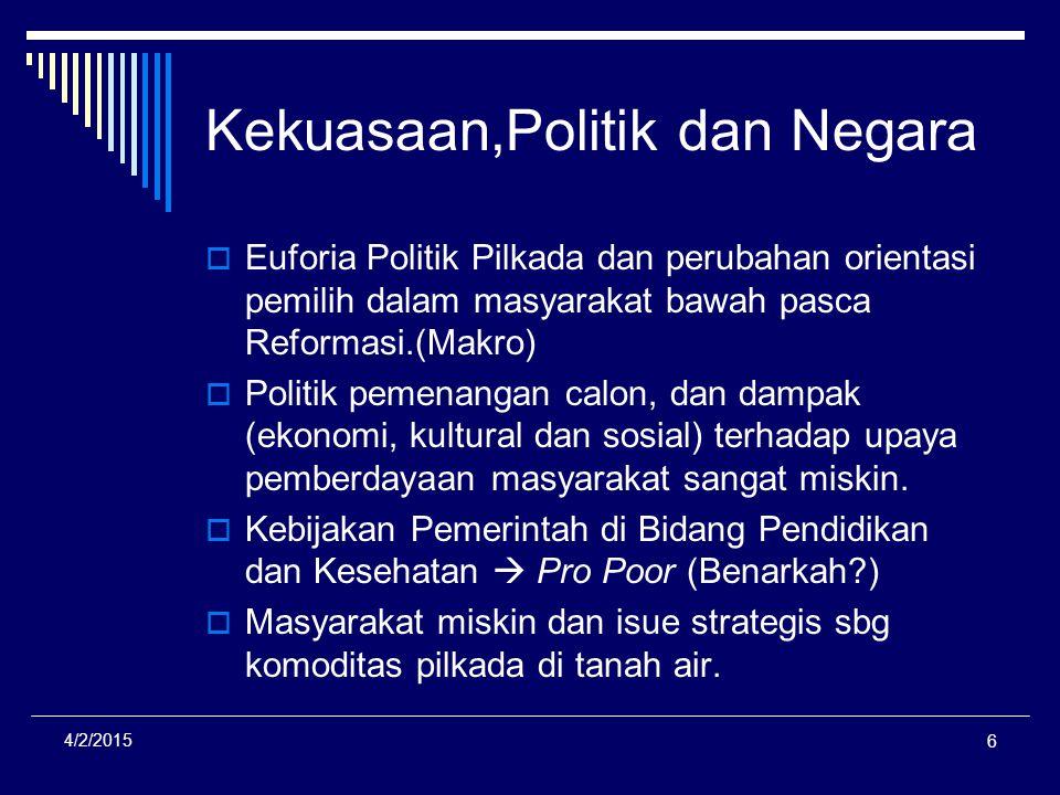Kekuasaan,Politik dan Negara
