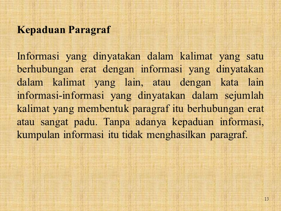 Kepaduan Paragraf