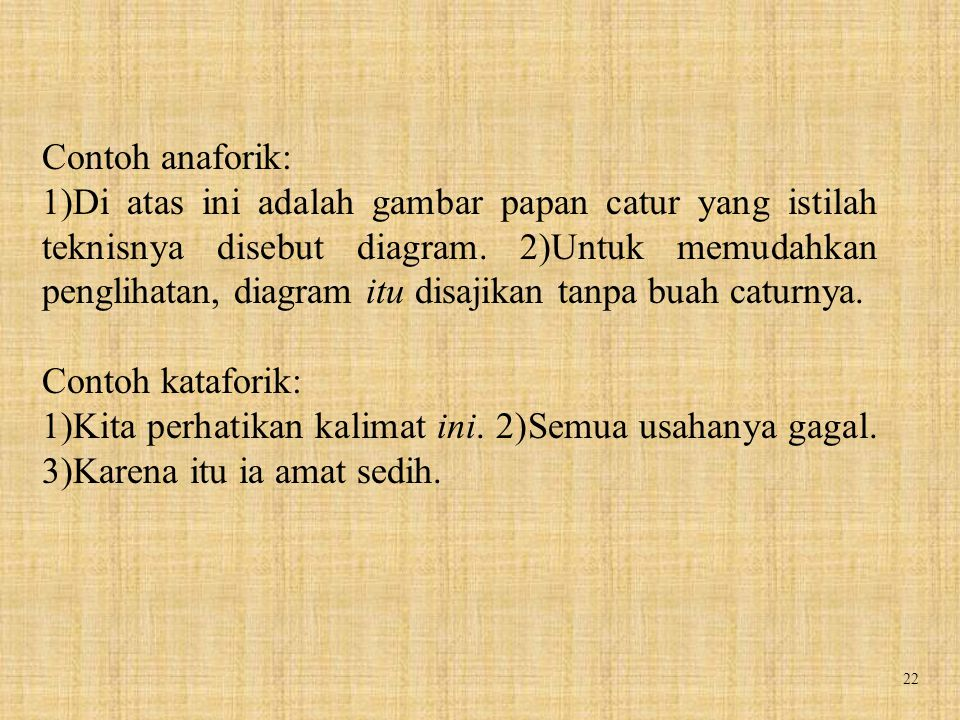 Contoh anaforik: