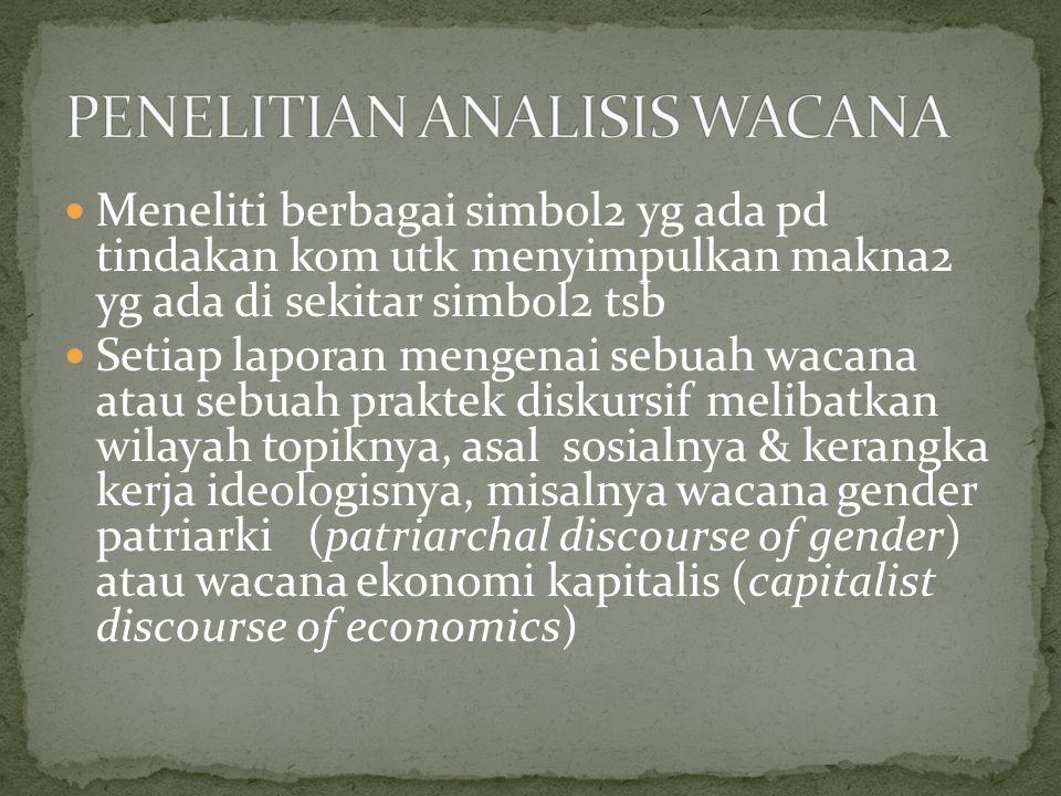 PENELITIAN ANALISIS WACANA
