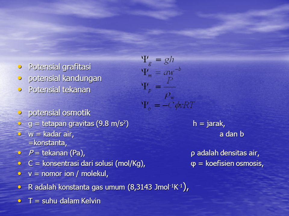 Potensial grafitasi potensial kandungan Potensial tekanan