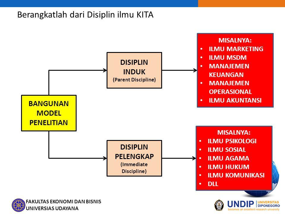 BANGUNAN MODEL PENELITIAN DISIPLIN PELENGKAP (Immediate Discipline)