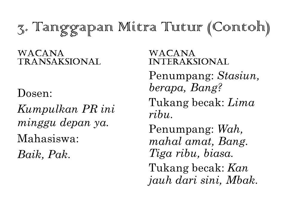 3. Tanggapan Mitra Tutur (Contoh)