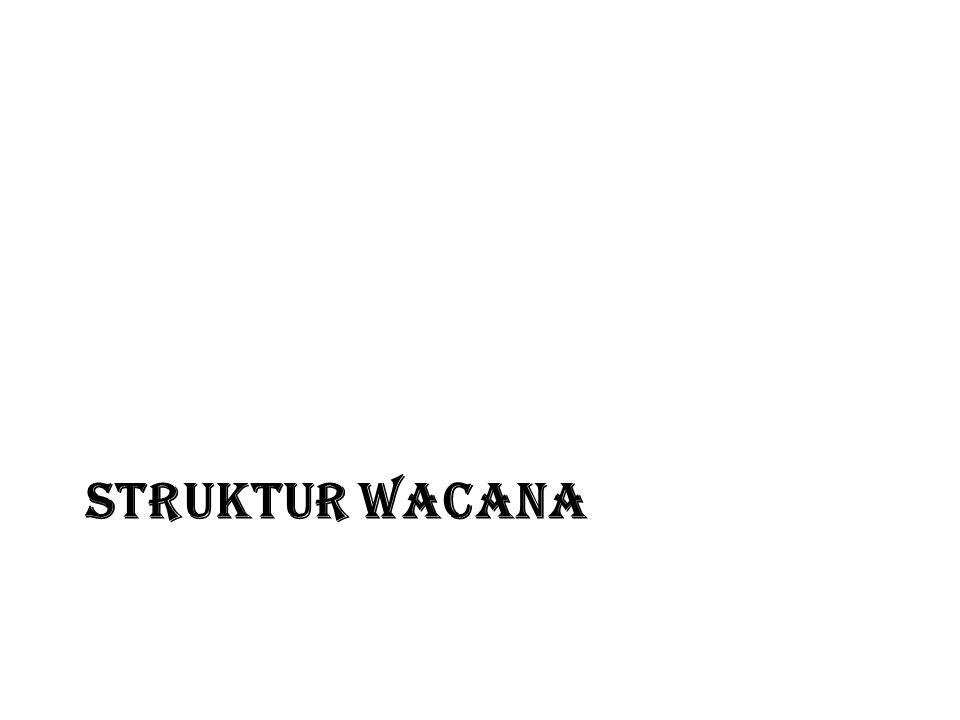 STRUKTUR WACANA