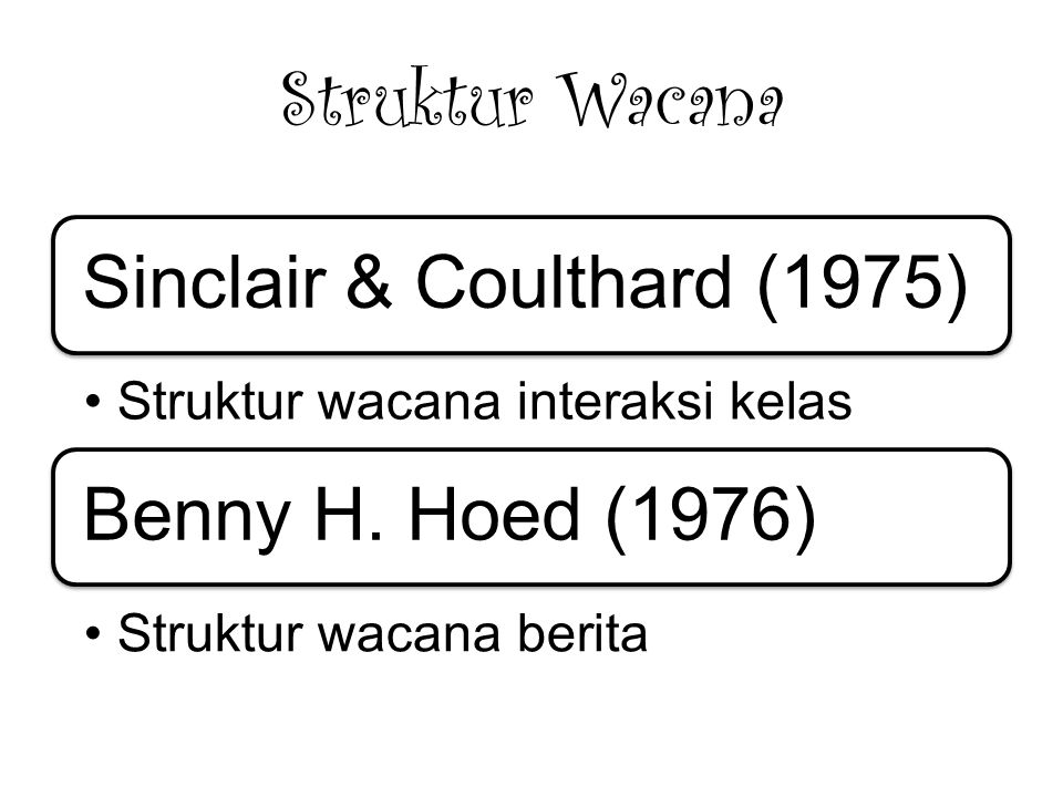 Sinclair & Coulthard (1975)