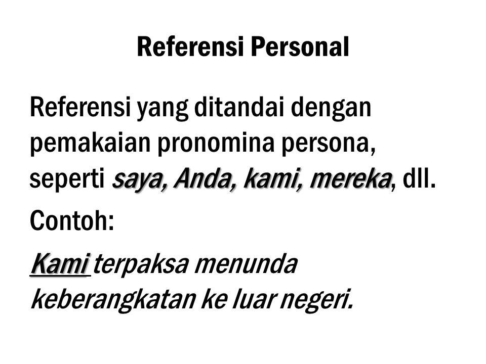 Referensi Personal