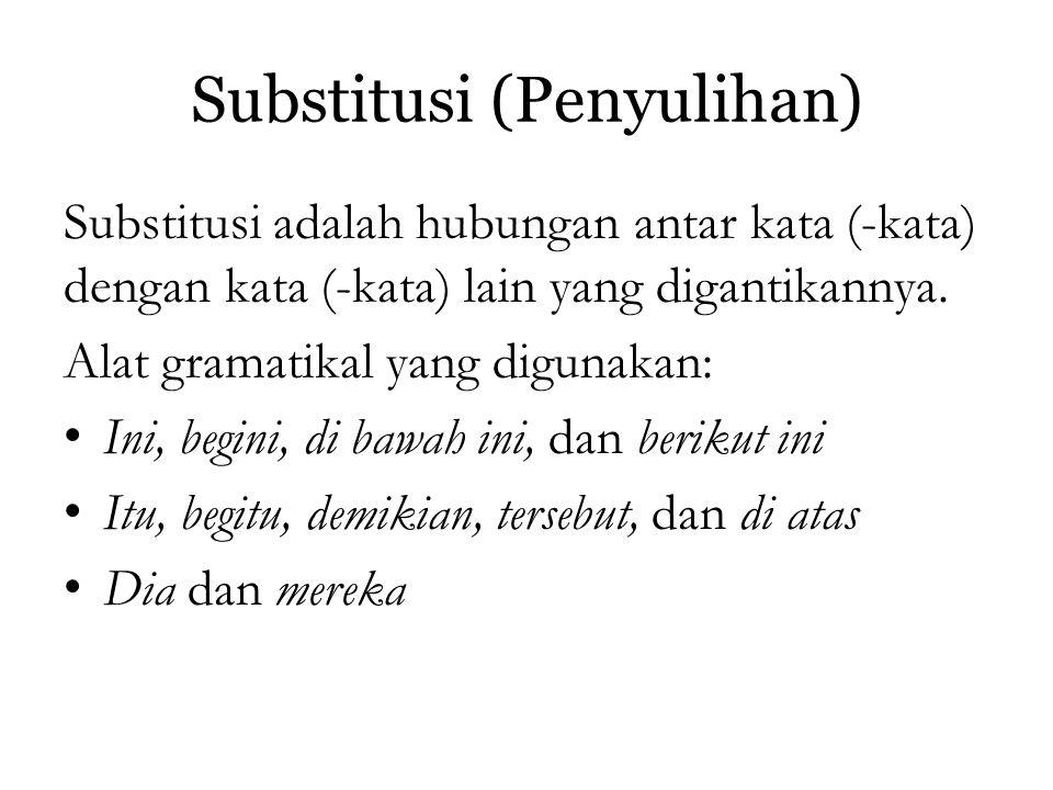 Substitusi (Penyulihan)