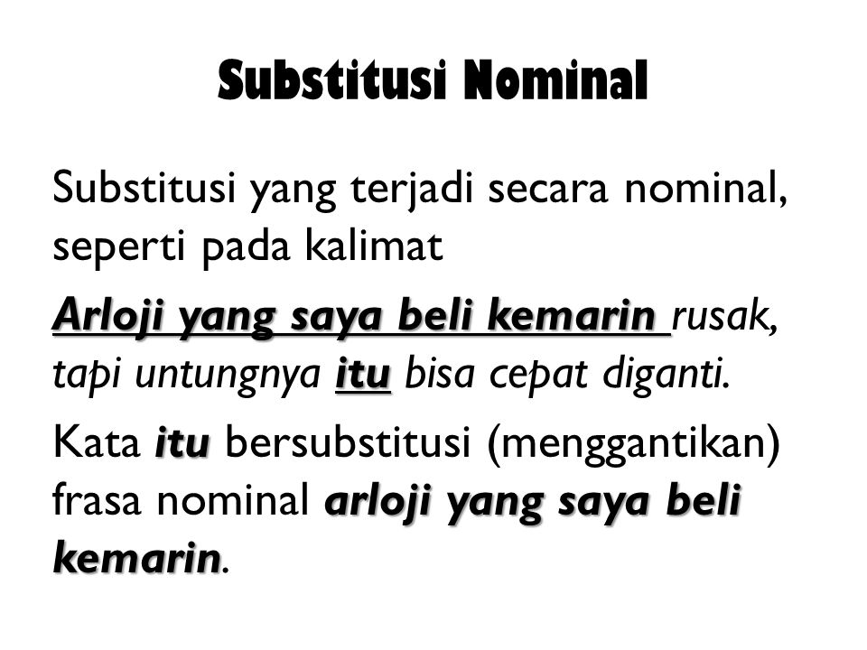 Substitusi Nominal