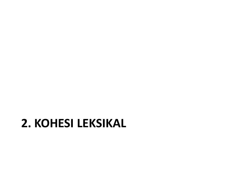 2. KOHESI LEKSIKAL