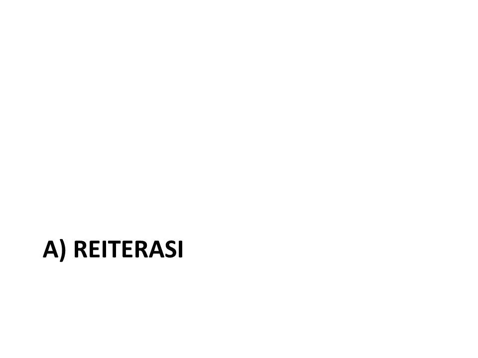 a) Reiterasi