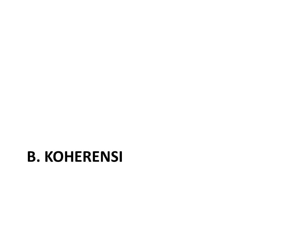 B. KOHERENSI