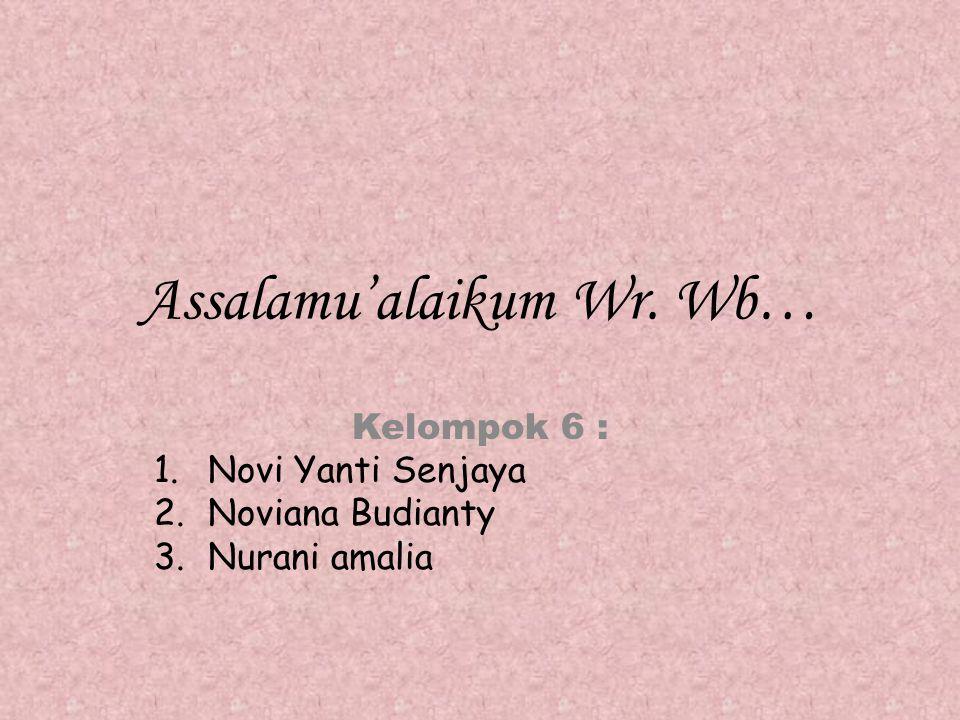 Assalamu'alaikum Wr. Wb…
