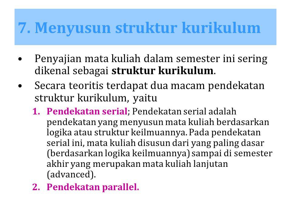 7. Menyusun struktur kurikulum