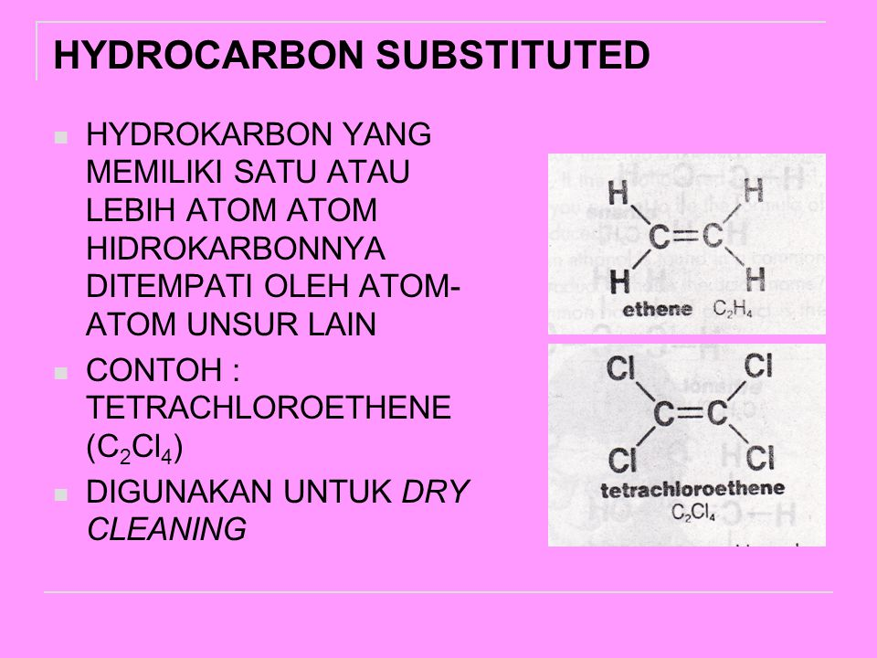 HYDROCARBON SUBSTITUTED