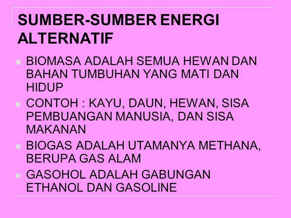 SUMBER-SUMBER ENERGI ALTERNATIF