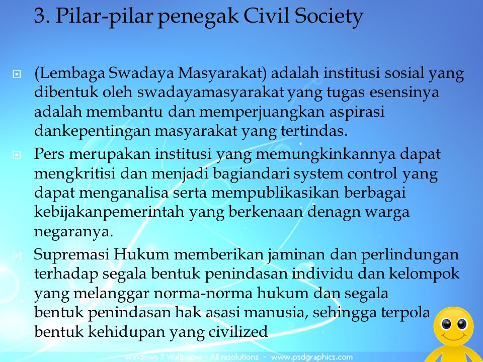 3. Pilar-pilar penegak Civil Society