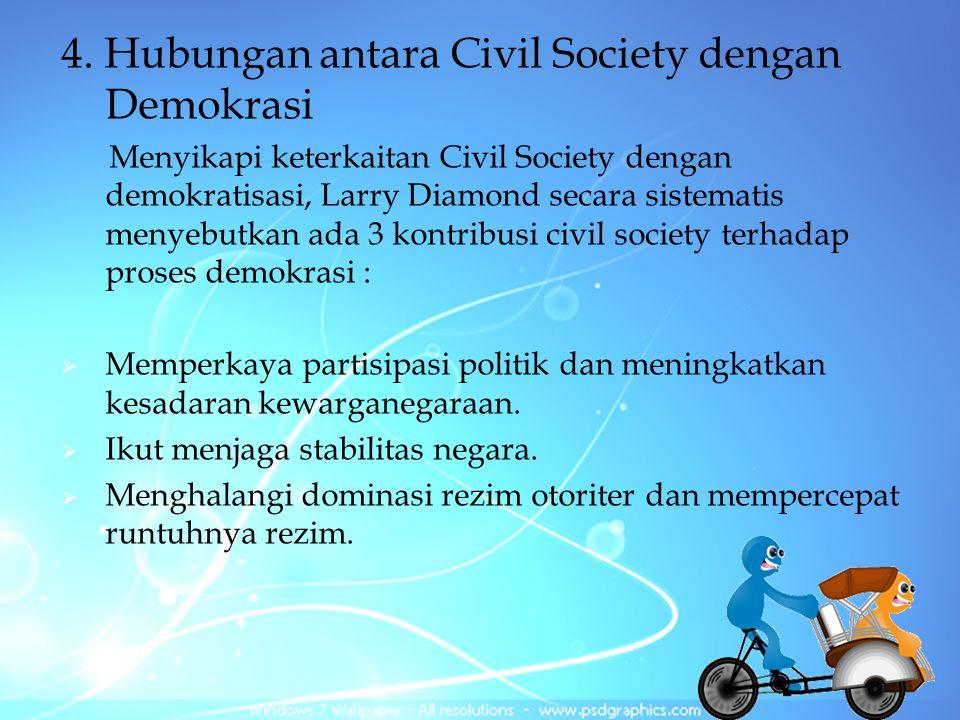 4. Hubungan antara Civil Society dengan Demokrasi