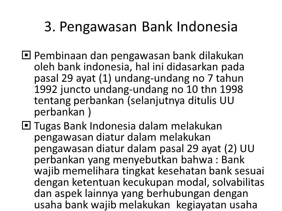 3. Pengawasan Bank Indonesia
