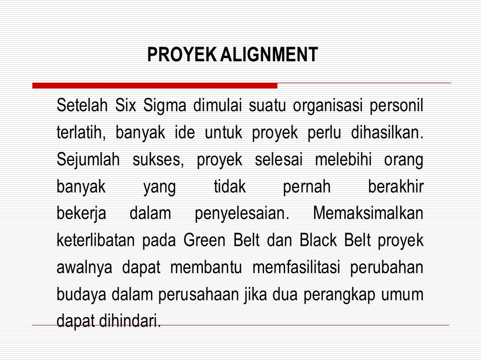 PROYEK ALIGNMENT