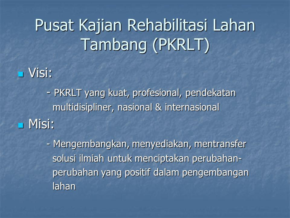 Pusat Kajian Rehabilitasi Lahan Tambang (PKRLT)